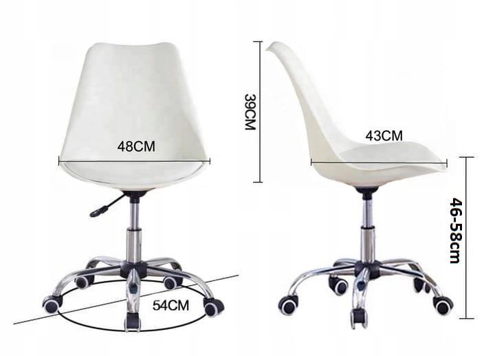 Krzesło obrotowe SOA do biurka biurowe z poduszką biało szary
