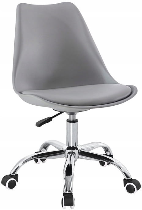 Krzesło obrotowe SOA do biurka biurowe z poduszką szary