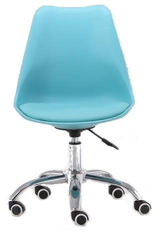 Krzesło obrotowe SOA do biurka biurowe z poduszką niebieski